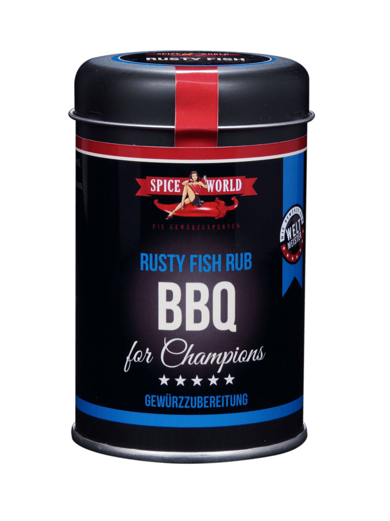 Barbecue-for-Champions - Rusty Fish - rotes Fischgrillgewürz , 90g Streudose