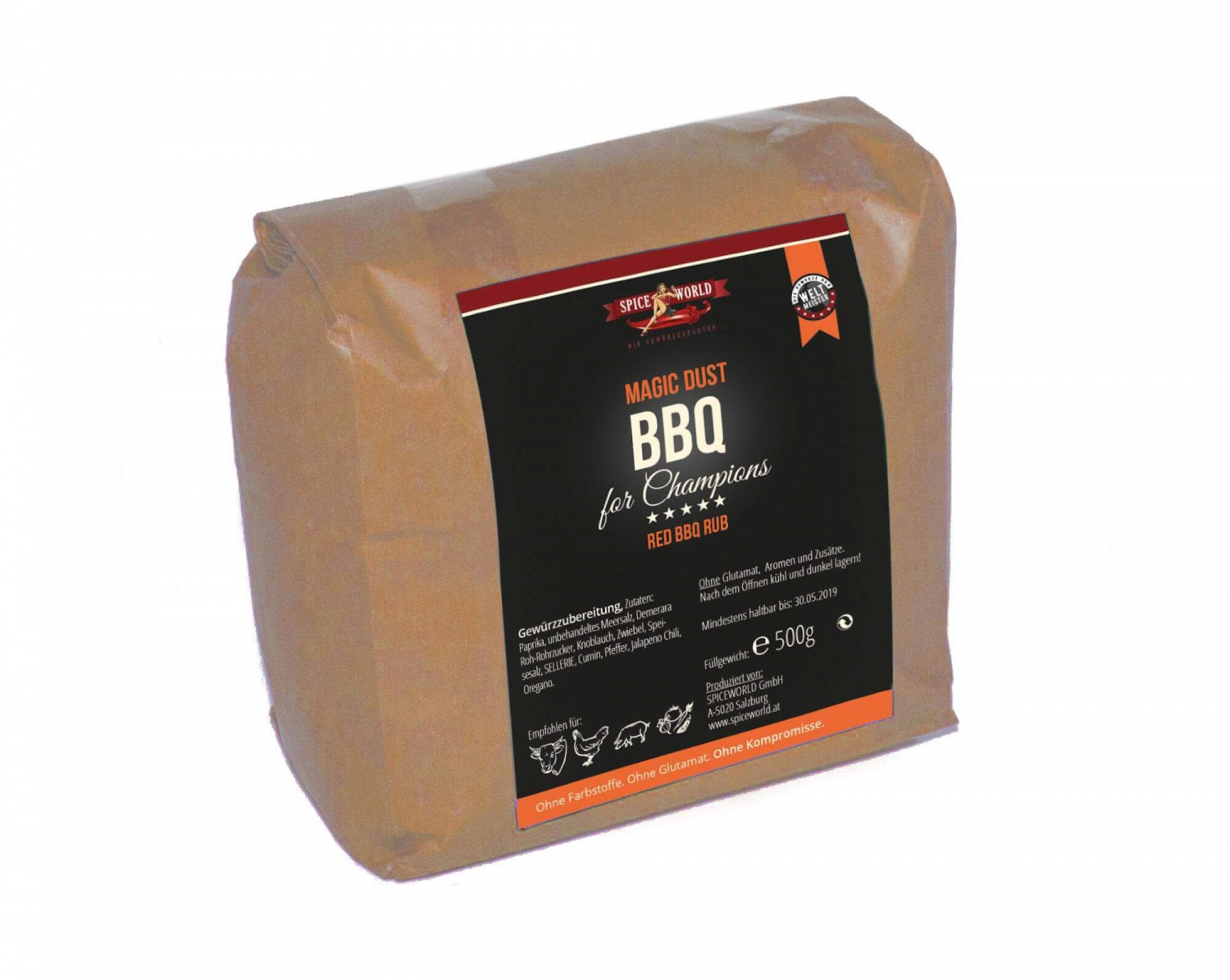 Barbecue-for-Champions Pork & Beef - Herb Spice Blend, 500g Beutel 500g Beutel