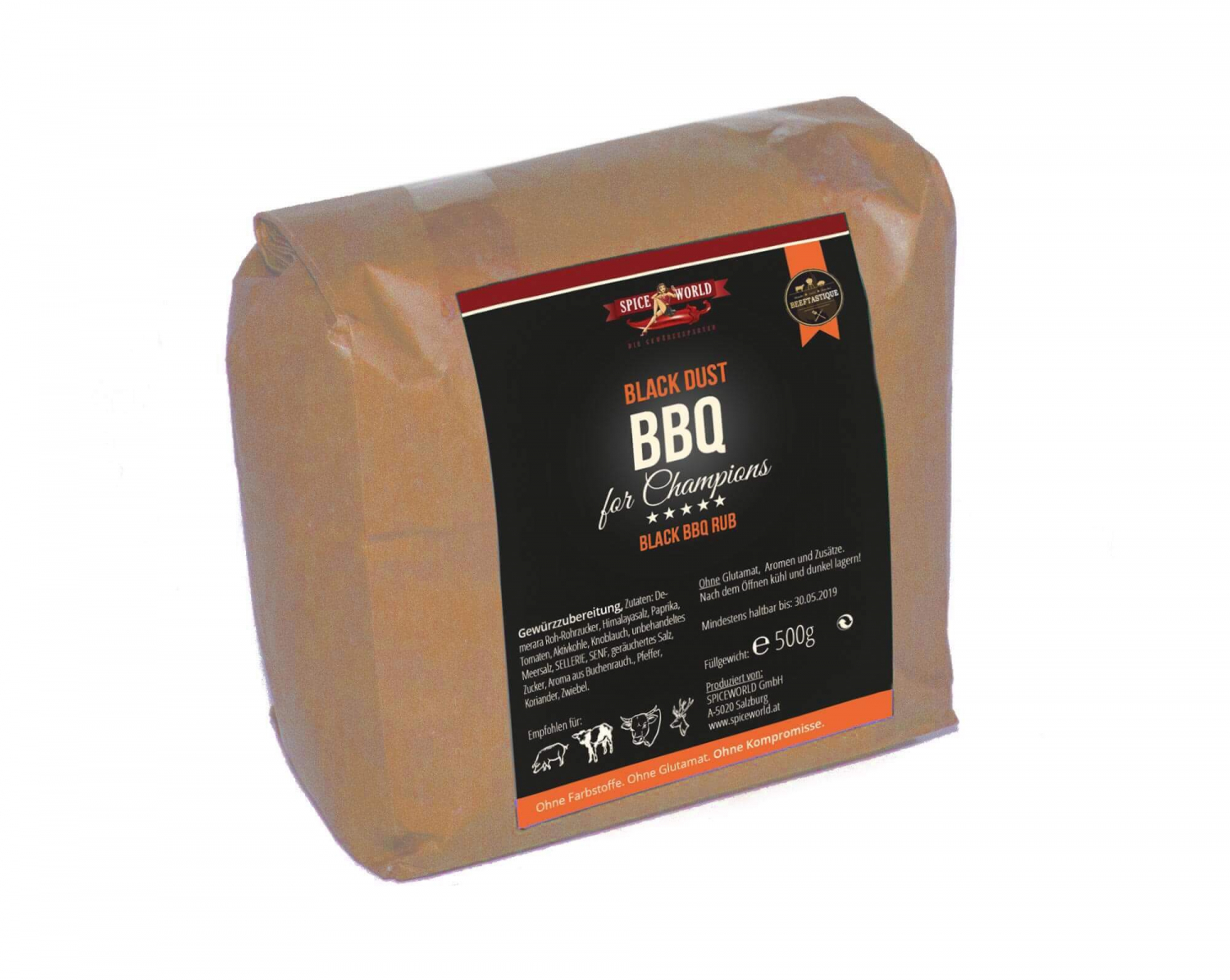 Barbecue for Champions - Black Dust - BBQ Rub - 500g Beutel 500g Beutel