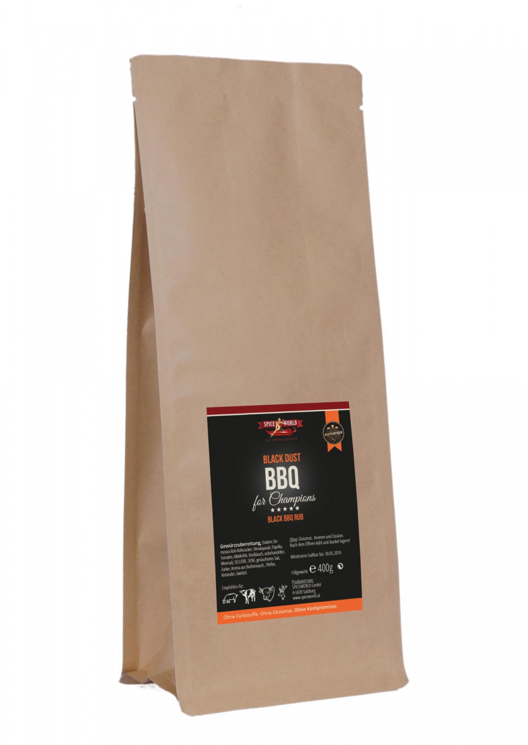 Barbecue for Champions - Black Dust - BBQ Rub - 400g Beutel Heavy-User-Beutel