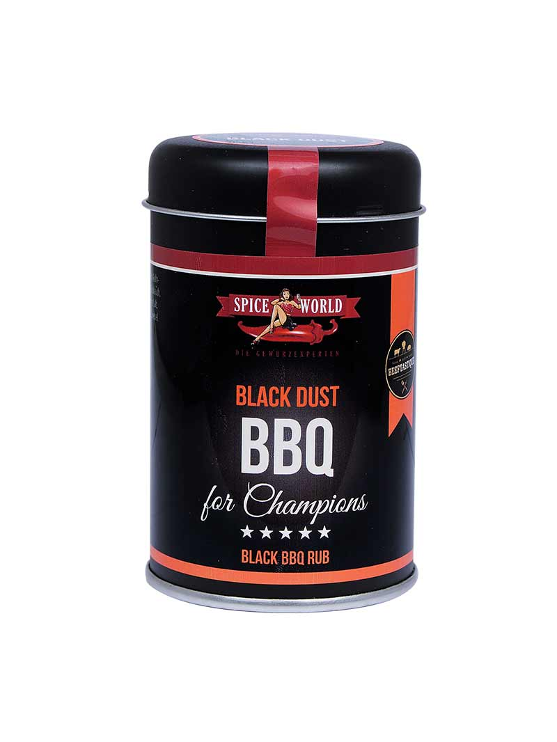 Barbecue for Champions - Black Dust - BBQ Rub - 150g Streudose 95