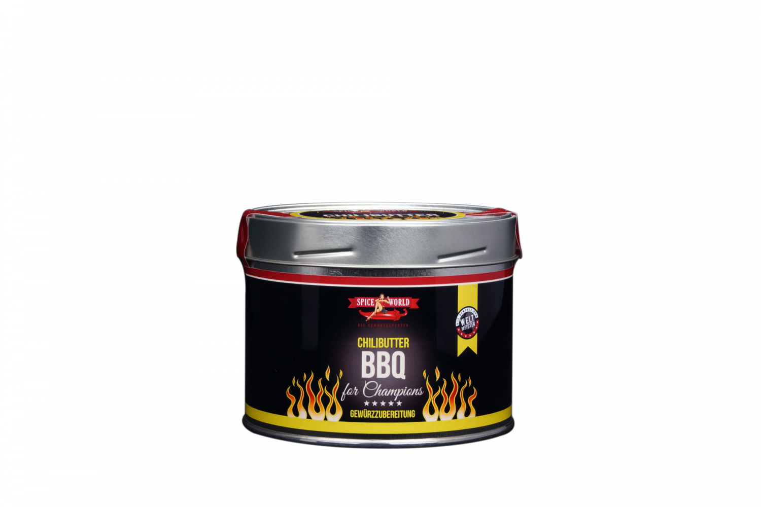 Barbecue-for-Champions - ChiliButter Gewürz 130g für 2 kg Butter, 550ml Gastro-Dose