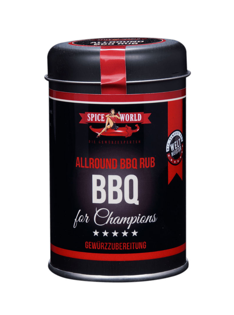 Barbecue-for-Champions - Allround BBQ Rub Gewürzzubereitung , 90g Streudose Streudose 95