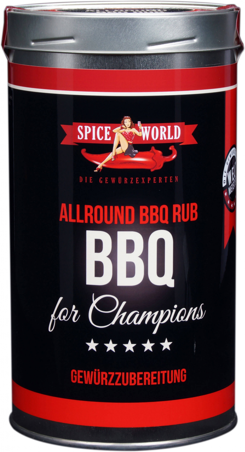 Barbecue-for-Champions - Allround BBQ Rub Gewürzzubereitung , 550ml Gastro-Dose 1333ml Gastro-Dose