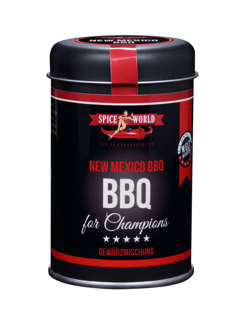 Barbecue-for-Champions - New Mexico BBQ Grillgewürz - salzfrei, 90g Streudose