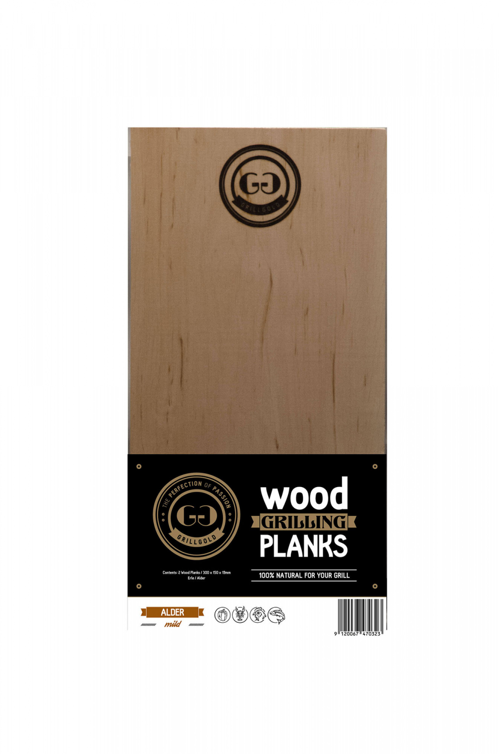 Grillgold's Wood Grilling Plank / Erle